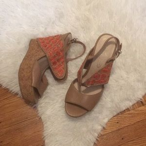 Elliott Lucca leather wedges!